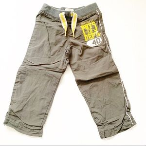 5/$25 Old Navy Kids Boys grey running track  pants